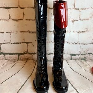 Chanel Patent Boots. NWOT